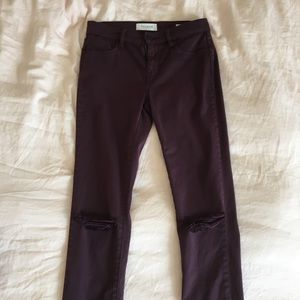 Maroon Pacsun skinny jeans